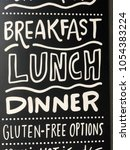 breakfast lunch dinner gluten... | Shutterstock . vector #1054383224