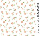 watercolor floral background...   Shutterstock . vector #1054386251