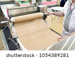 machine for dough rolling and... | Shutterstock . vector #1054389281