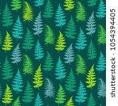 fern frond herbs  tropical...   Shutterstock .eps vector #1054394405