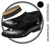 vector. men's shoes classic... | Shutterstock .eps vector #1054396361