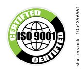 certified iso 9001 sticker... | Shutterstock .eps vector #1054396961