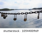 said love of the lock on the... | Shutterstock . vector #1054400969