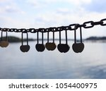 said love of the lock on the... | Shutterstock . vector #1054400975