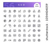 set of 56 seo line icons...