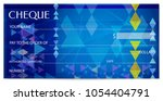 check  cheque   chequebook... | Shutterstock .eps vector #1054404791
