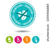 caffeine free badge with icons. ...   Shutterstock .eps vector #1054406885