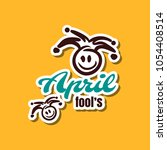 april fools. funny sticker for...   Shutterstock .eps vector #1054408514