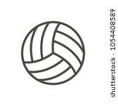 volleyball ball icon vector....