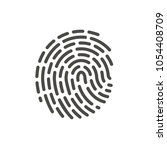 finger print icon vector. line...