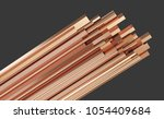 copper metal different types ...   Shutterstock . vector #1054409684