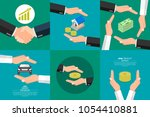 concept of insurance of money.... | Shutterstock .eps vector #1054410881