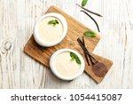 vanilla pudding  sticks and...   Shutterstock . vector #1054415087