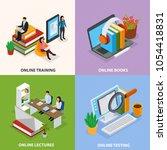 online education isometric... | Shutterstock .eps vector #1054418831