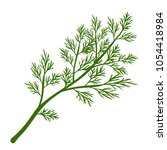 fresh dill. green vegetables.... | Shutterstock .eps vector #1054418984
