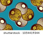 textile fashion african print... | Shutterstock .eps vector #1054419344