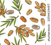 seamless pattern with date... | Shutterstock .eps vector #1054419497