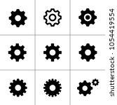 gear icon set | Shutterstock .eps vector #1054419554
