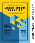 modern vector art poster... | Shutterstock .eps vector #1054421474