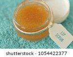 homemade lip scrub made out of...   Shutterstock . vector #1054422377