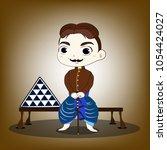 thai nobility in ayutthaya... | Shutterstock .eps vector #1054424027