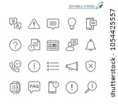 Stock vector information and notification line icons editable stroke pixel 1054425557