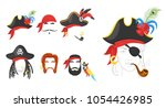 vector cartoon style pirate... | Shutterstock .eps vector #1054426985