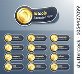 cryptocurrencies tag  lable or... | Shutterstock .eps vector #1054427099