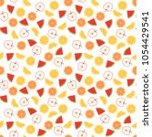 seamless pattern of juicy... | Shutterstock .eps vector #1054429541