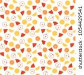 seamless pattern of juicy... | Shutterstock .eps vector #1054429541
