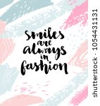 smiles are always in fashion.... | Shutterstock .eps vector #1054431131