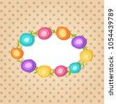cute round frame. paper cut...   Shutterstock .eps vector #1054439789