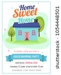housewarming party invitation...   Shutterstock .eps vector #1054448501