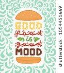 conceptual art of burger.... | Shutterstock .eps vector #1054451669