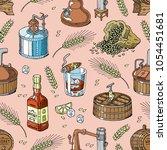 whiskey vector alcohol beverage ...   Shutterstock .eps vector #1054451681