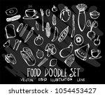 hand drawn doodle vector line... | Shutterstock .eps vector #1054453427