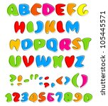 colorful happy alphabet | Shutterstock .eps vector #105445571