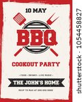 barbecue poster  flyer ... | Shutterstock .eps vector #1054458827