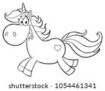 black and white cute magic... | Shutterstock .eps vector #1054461341