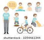 people  activities  habit ...   Shutterstock .eps vector #1054461344
