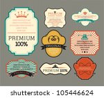 Stock vector vintage label for retro banners eps 105446624