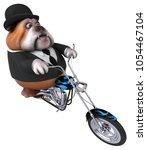 fun bulldog   3d illustration | Shutterstock . vector #1054467104