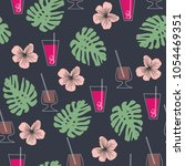 seamless pattern with tropical... | Shutterstock .eps vector #1054469351