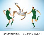 football players in action....   Shutterstock .eps vector #1054474664