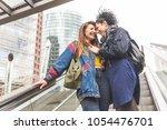 lesbian couple in berlin... | Shutterstock . vector #1054476701
