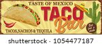 Stock vector vintage tacos bar metal sign 1054477187
