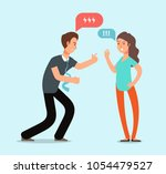 young angry man and woman... | Shutterstock .eps vector #1054479527