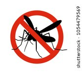 mosquito warning prohibited... | Shutterstock .eps vector #1054479569