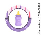 violet baby feed bottle with... | Shutterstock .eps vector #1054480409