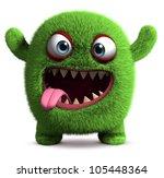 3d Cute Furry Monster